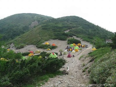 薬師峠のテント場