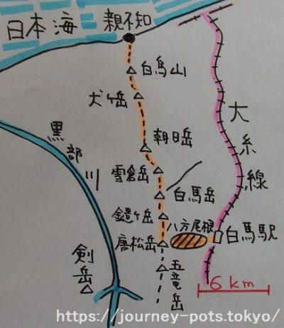 日本海へ・地図