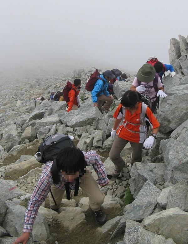 雄山へ登登山者